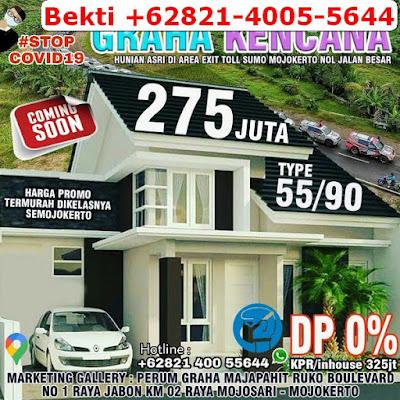 Jual Rumah Mojokerto Dekat Tol, Harga Murah di Mojoanyar, Samping Jalan Raya, Bekti +62821-4005-5644