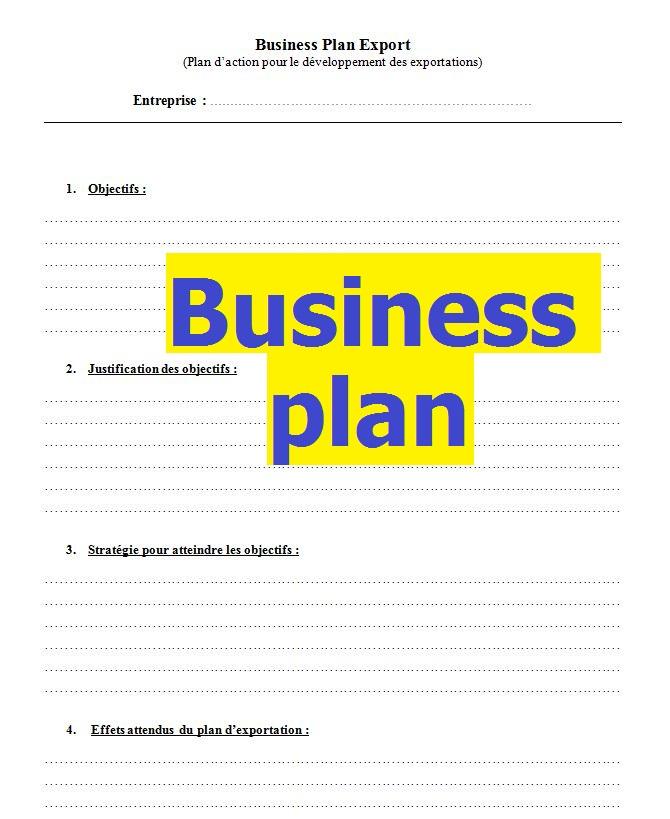 le business plan gratuit