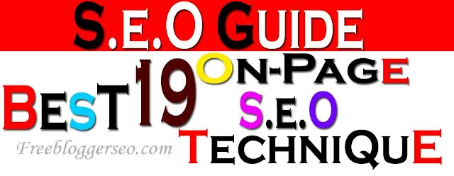 19 Best On-page SEO Techniques for Blogger 2020