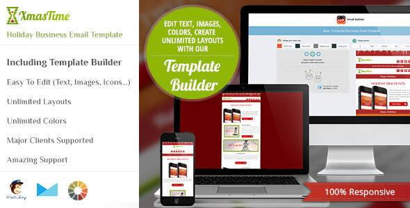 XmasTime – Holiday Business Responsive HTML Email Template