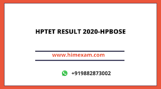 HPTET RESULT 2020-HPBOSE