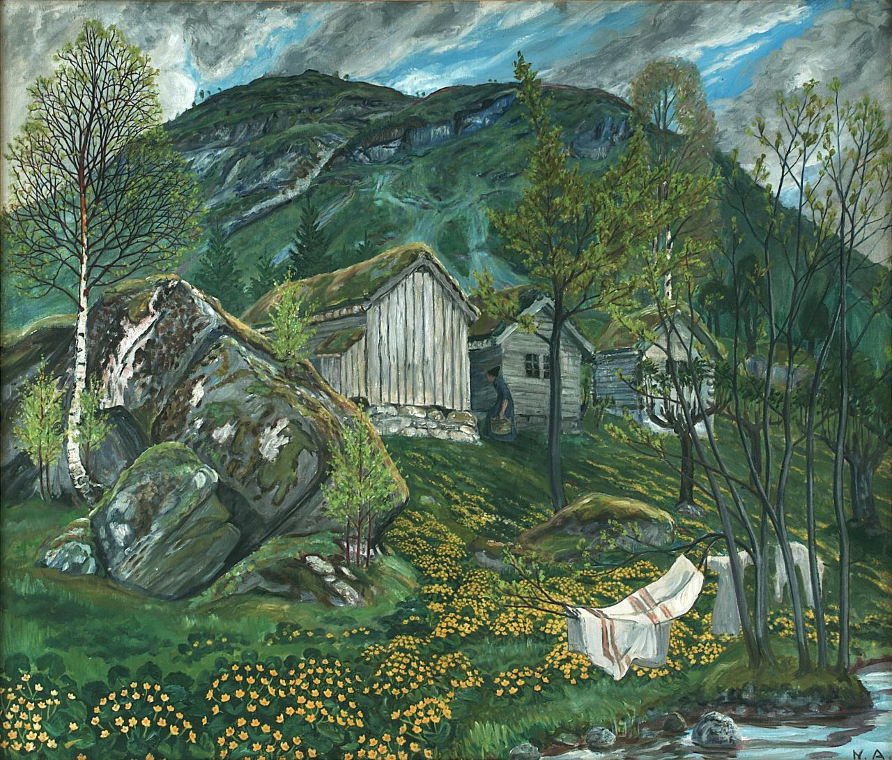 'Spring Mood by Old Cotter's Farm.' Image: Courtesy of Nikolai-Astrup.no. Unauthorized use is prohibited.