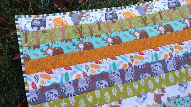 "Quilt-as-you-go 2.5"" strip baby quilt"