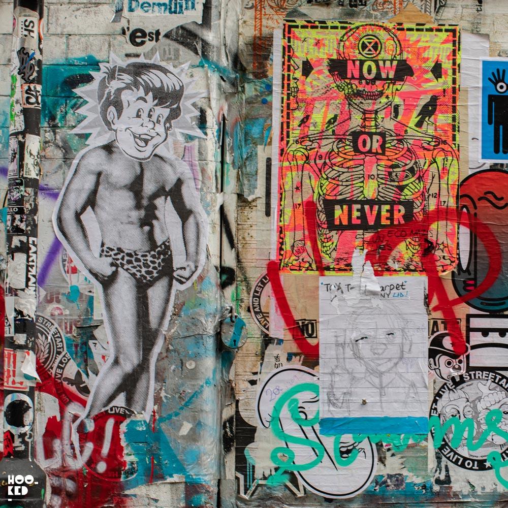 Brick Lane Street Art Paste-Ups : Artist Ben Rider