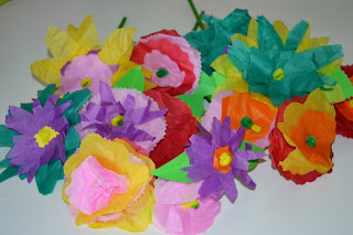 Craft Time How To Make Colorful Paper Flowers Mom On Timeout