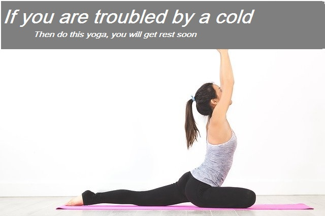 If you are troubled by a cold _Then do this yoga_ you will get rest soon