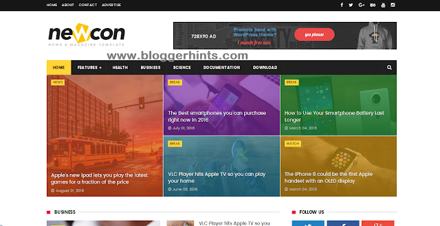 Newcon Blogger Template /Theme