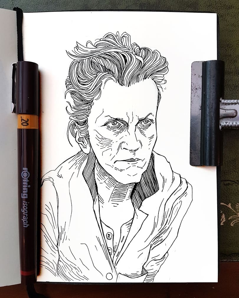 sketch Frances McDormand