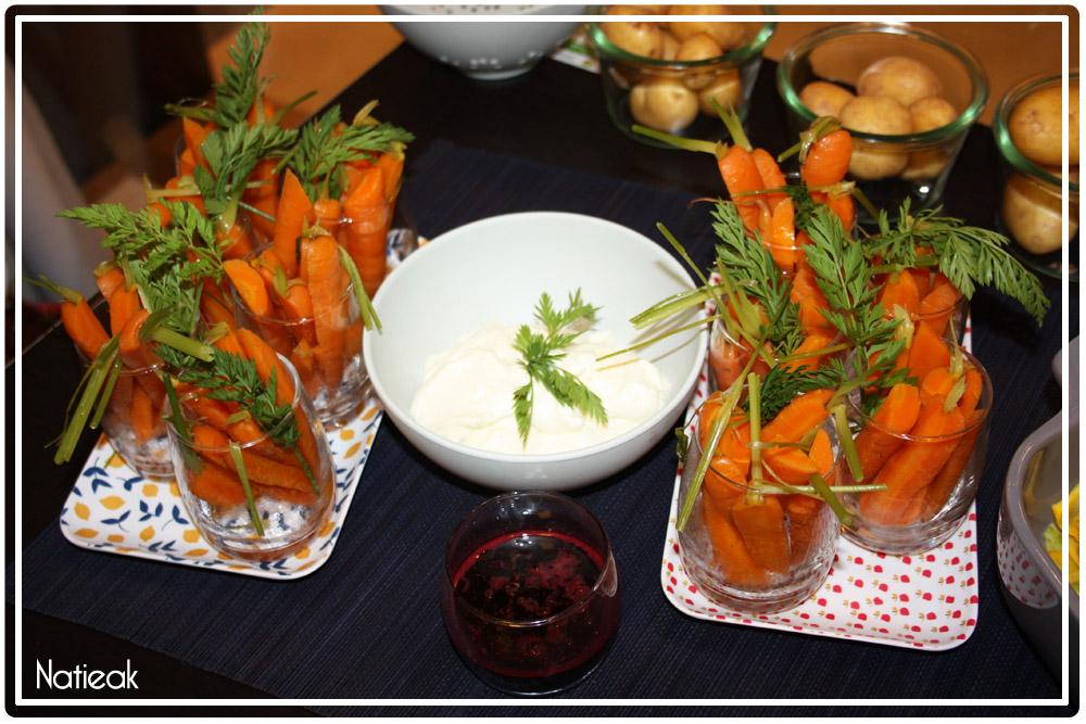 Dips de carottes glacées siphon wasabi