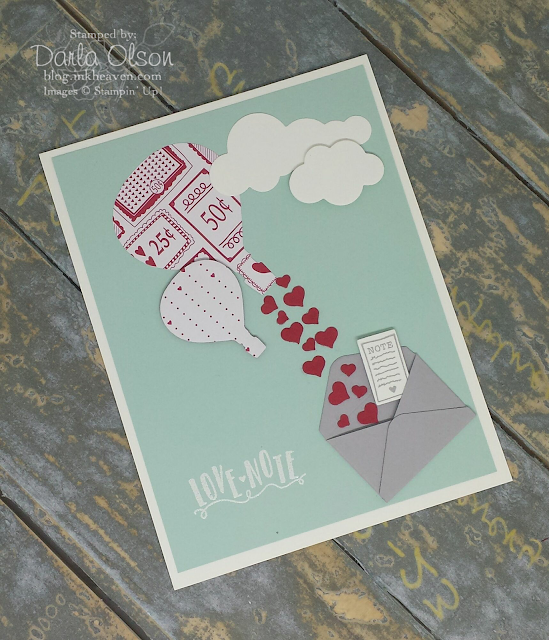 Sending love notes by bassoon card using sealed with love and lift me up shared by Darla Olson at inkheaven