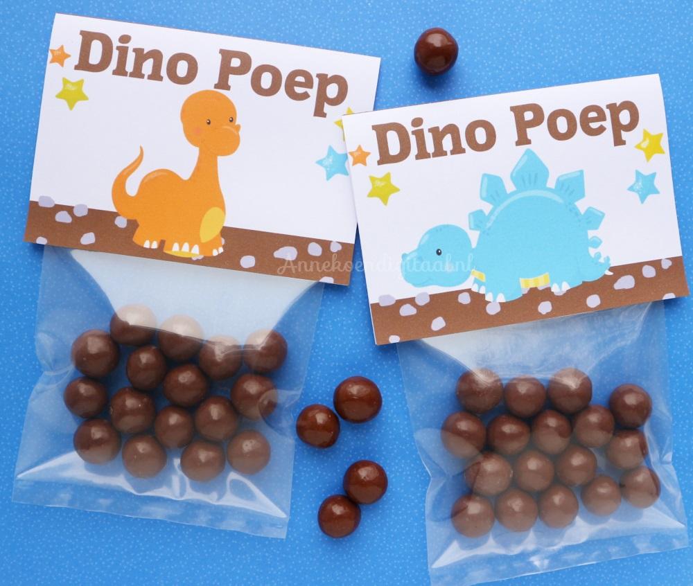 Blog over feestelijke traktaties printables sweet tables for Dino traktatie