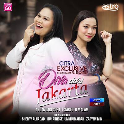 Telefilem Diva Dari Jakarta, Telemovie Diva Dari Jakarta, Poster Telefilem Diva Dari Jakarta, Info dan Sinopsis Telefilem Diva Dari Jakarta, Sherry Al Hadad, Ruhainies,