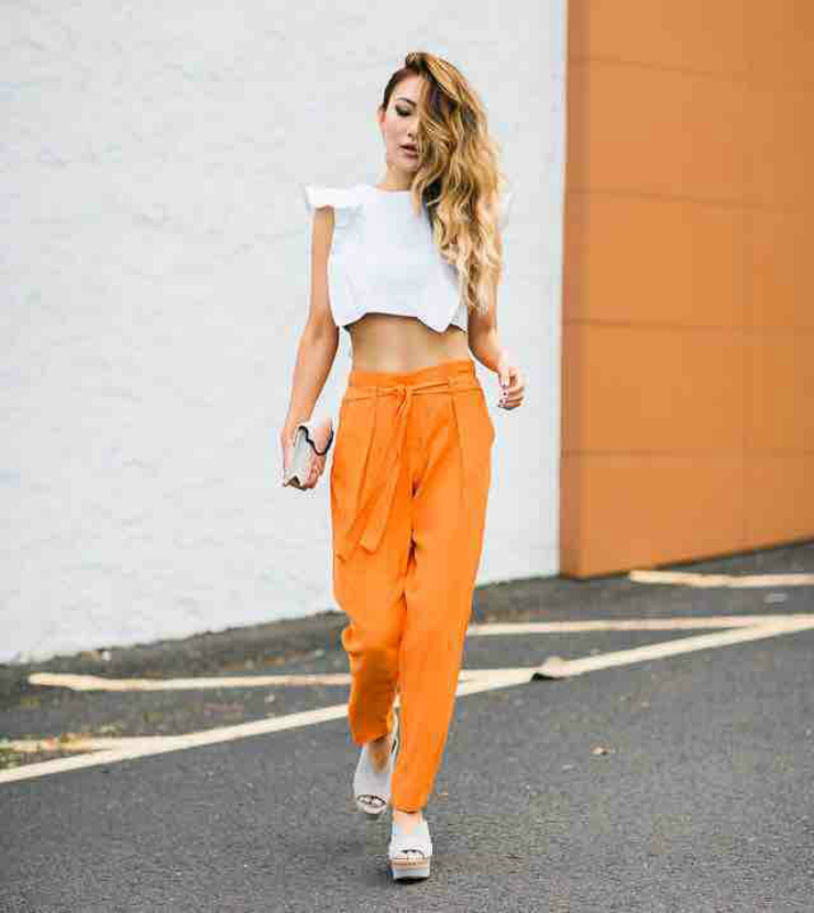 orange harem pants [tumblr inspiration]