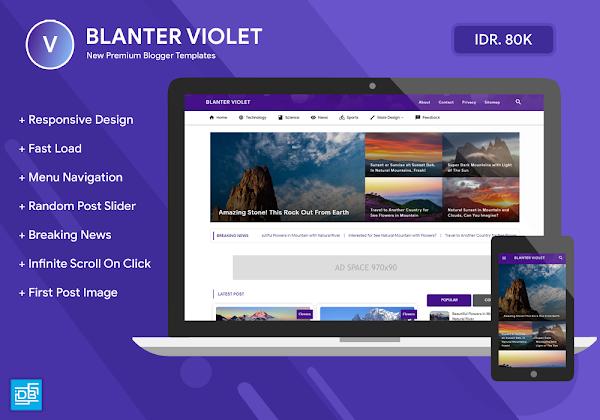 Blanter Violet Responsive Blogger Template
