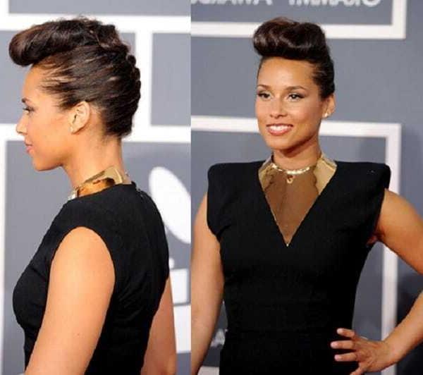 Alicia Keys haircuts