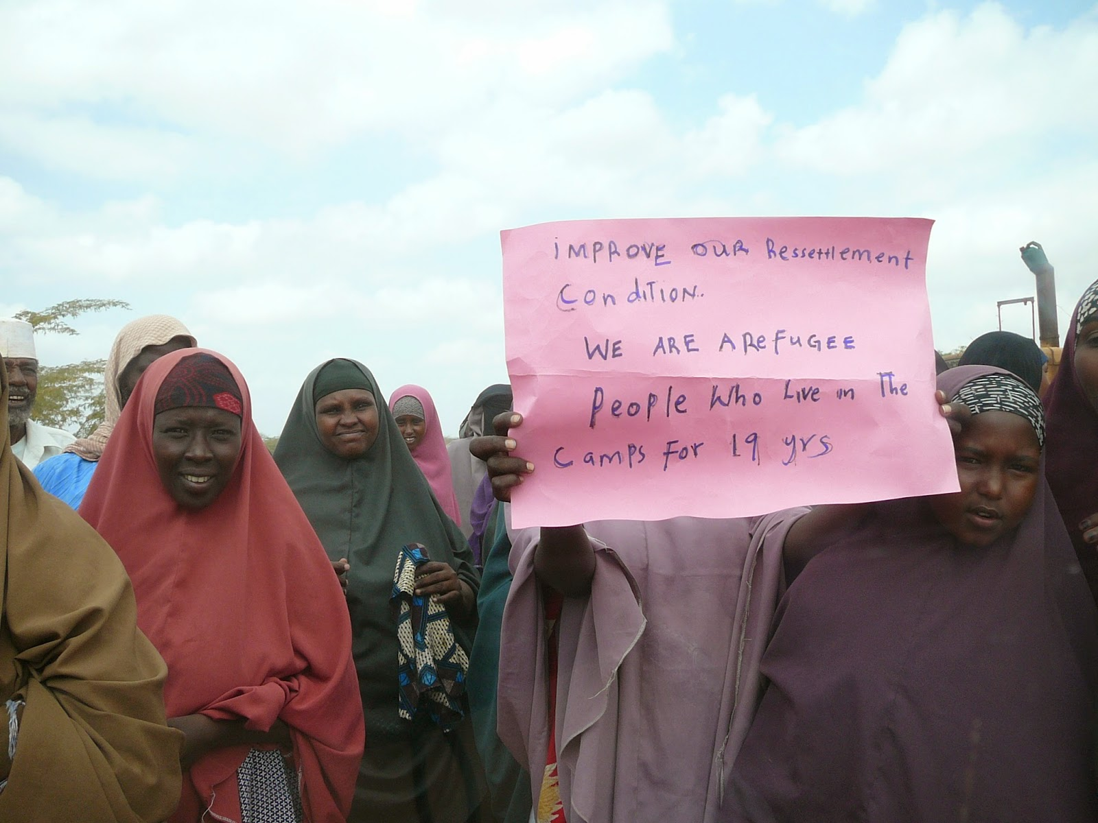Somali refugees in Dadaab camp in Kenya.