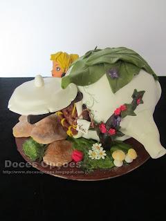 flores fada bolos decorados