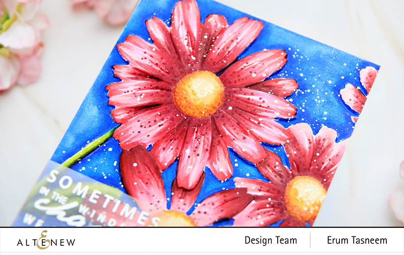 Altenew Daisies 3D Embossing Folder + Artist Alcohol Markers | Erum Tasneem | @pr0digy0