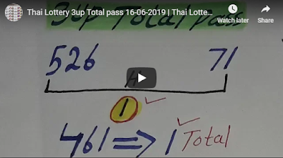 Thai lottery 3up pair VIP formula numbers member tips 16 June 2019