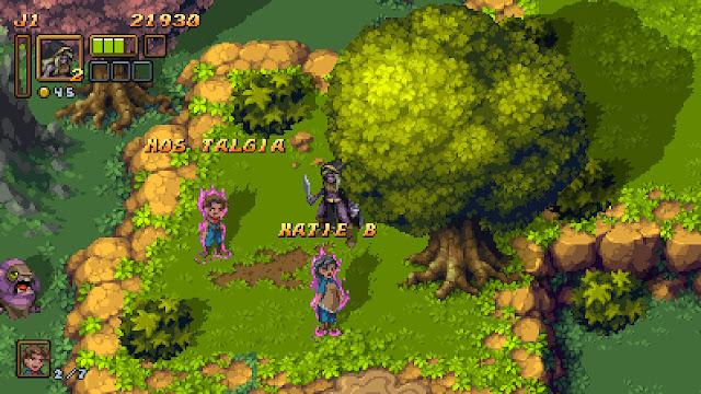 Battle Axe para Switch - rescatando aldeanos