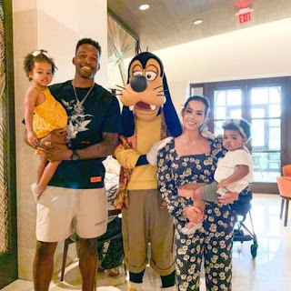 Jeff Green And His Wife Stephanie With Their Two Beautiful Daughters