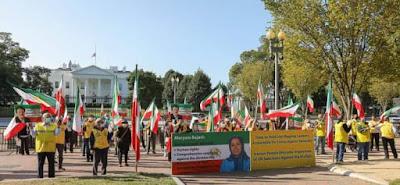 في عاصمة الأمم، الإيرانيون يرحبون بإعادة فرض عقوبات الأمم المتحدة، ويدعون إلى الاعتراف بالنضال من أجل إيران حرة