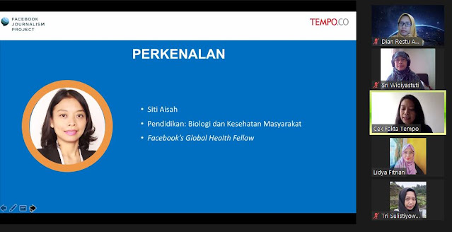 Kak Icha Mentor pelatihan cek fakta online