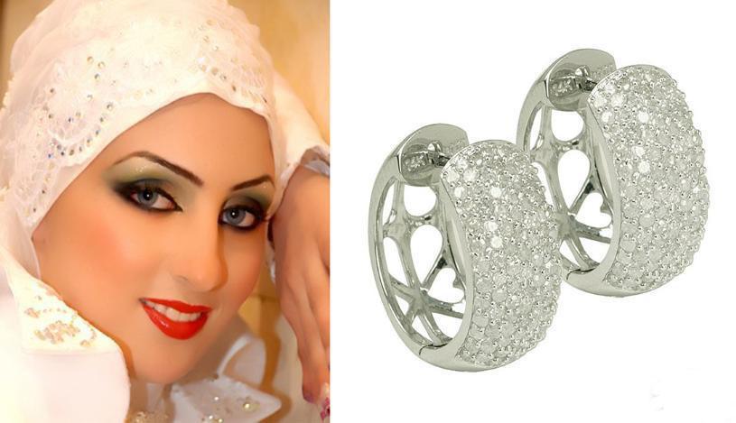 hijab accessoire boucle d 39 oreille pour femmes voil es. Black Bedroom Furniture Sets. Home Design Ideas
