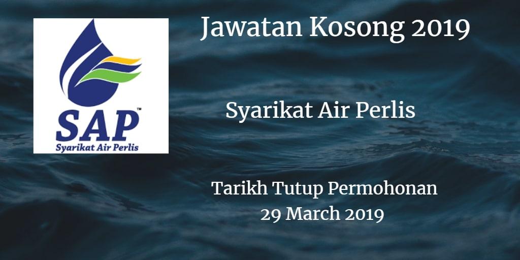 Jawatan Kosong Syarikat Air Perlis 28 March 2019