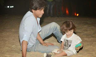 Shahrukh Khan playing with youngest son Abram