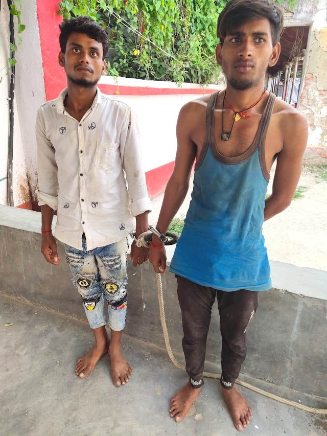 दो शराबी को गिरफ्तार कर भेजा जेल