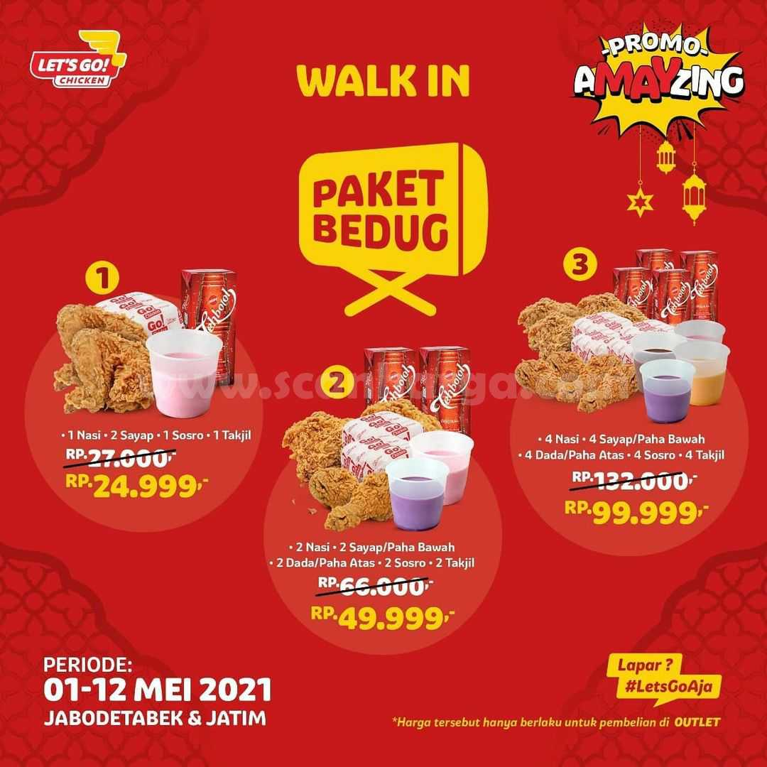 Promo Lets Go Chicken PAKET BEDUG – Harga mulai Rp24.999