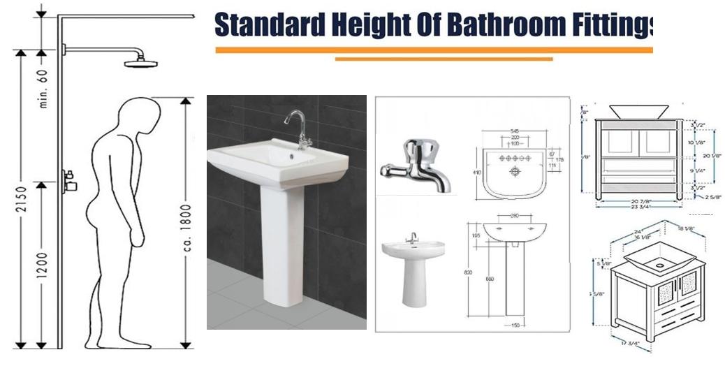 Standard Height Of Bathroom Fittings Fantasticeng