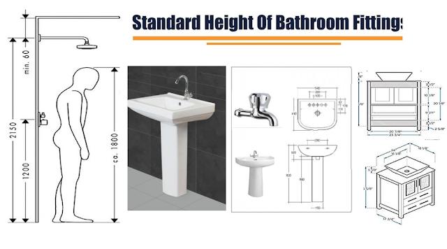 Standard Height Of Bathroom Fittings, Standard Height For Bathroom Vanity Light