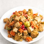 Baked Vegetables and Tofu with Quinoa