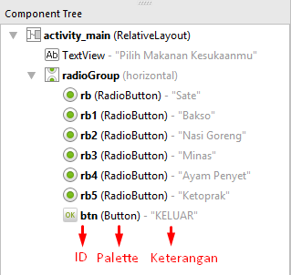 Cara Implementasi Radio Button Pada Android Studio