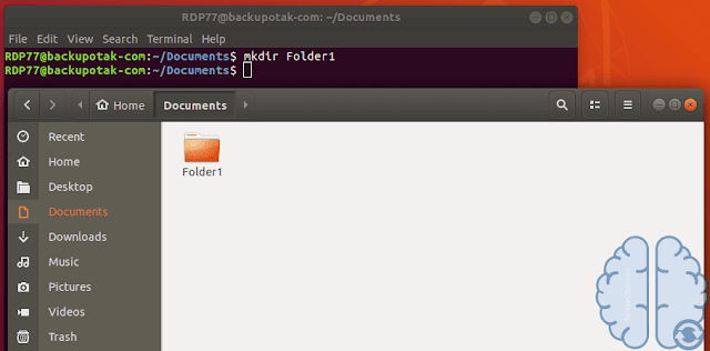 Membuat 1 Folder Di Terminal Linux