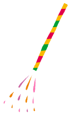 花火のイラスト「手持花火」