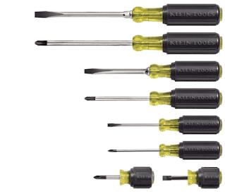 $49.50, 8-Piece Klein Tools 85078 All Purpose Screwdriver Set