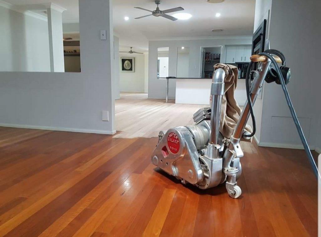 polishing parquet floors