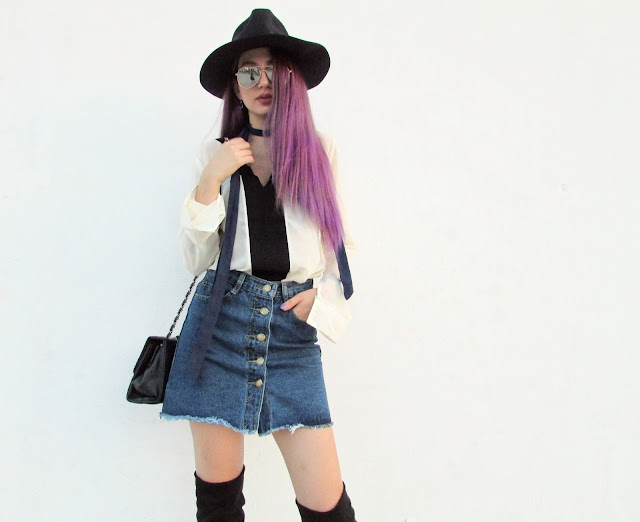 how to style denim skirt