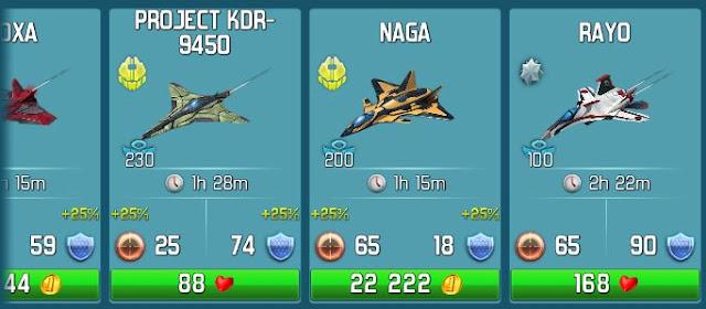 Algunas unidades aéreas de World at Arms