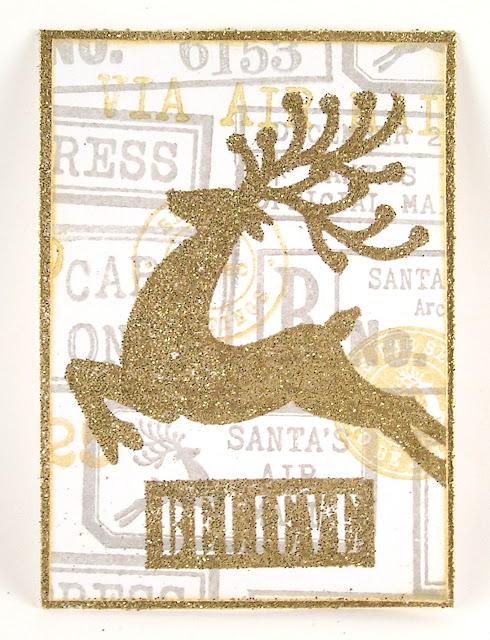 Darkroom Door Rubber Stamps Merry Mail Christmas Reindeer Tag