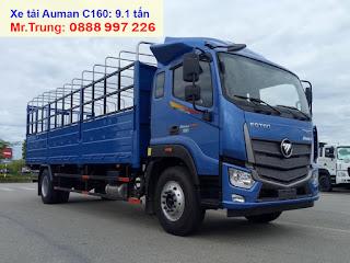 xe-tải-thaco-auman-c160-tải-trọng-9-tấn-thùng-dài-7m4
