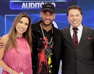 Patricia, Neymar e Silvio (Crédito: Lourival Ribeiro/SBT)
