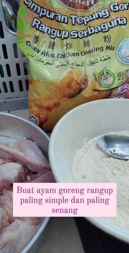 cara buat ayam goreng paling simple dan sedap