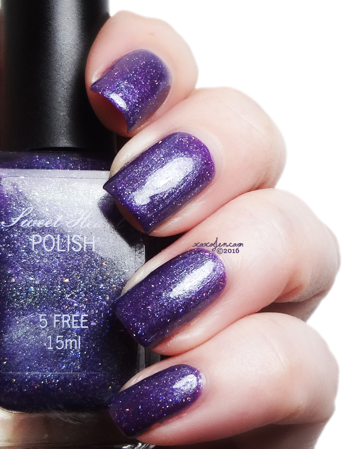 xoxoJen's swatch of Sweet Heart Polish Addicted to Purple