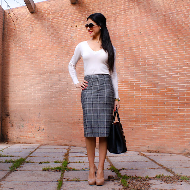 "LOOK Office Falda ""Príncipe de Gales"""
