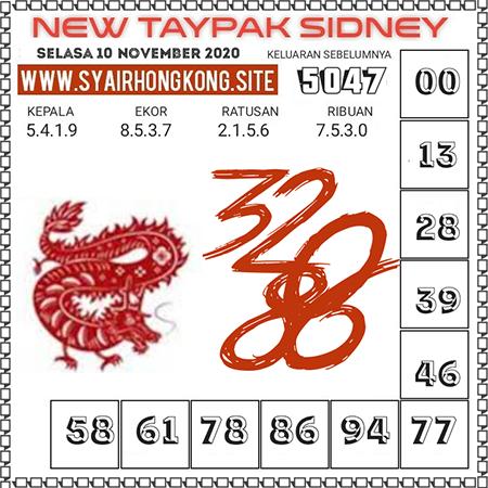 Prediksi New Taypak Sydney Selasa 10 November 2020