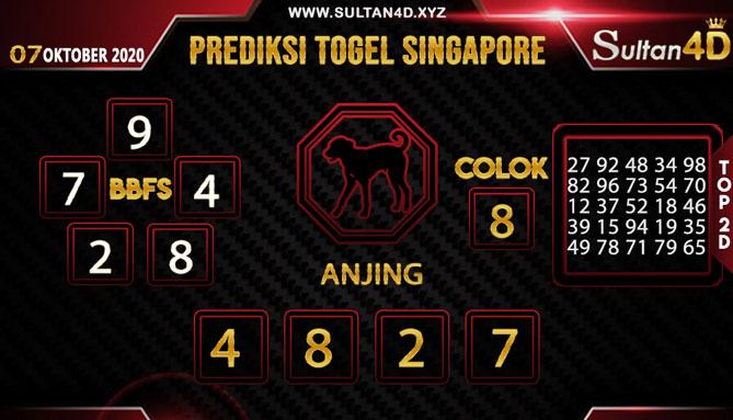 PREDIKSI TOGEL SINGAPORE SULTAN4D 07 OKTOBER 2020